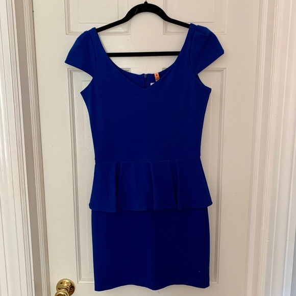 Amanda Uprichard Dresses & Skirts - Royal Blue Peplum Dress by Amanda Uprichard